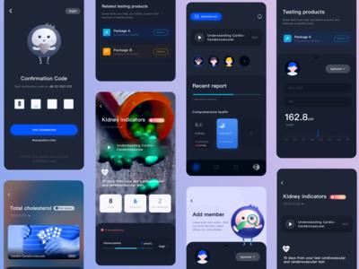 App ui for U ux mobile branding vector app design work application ui app