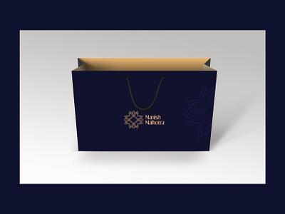 Branding Manish Malhotra business card letter head visiting card logo design brand management india fashion stationery packaging bag logo branding