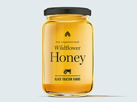 Black Tractor Farms Honey Packaging