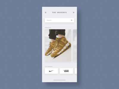 Sneakers Shop App UI Design Concept minimal ux design ui design user experience web design sneakers mobile app user interface design app design design ui ux