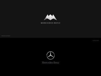 Mercedes-Benz Logo Re-design automobile car logo concept mercedes sports car mercedes-benz branding logo