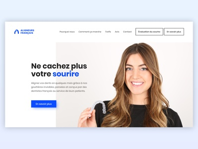Aligners Francais - Website UI Design website concept website design webdesign french aligners website dentist website web design ux dentist