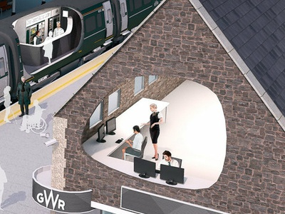 GWR station Illustration