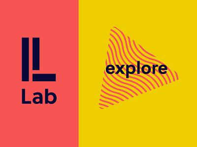Lab Scribbble composition triangle logo lab