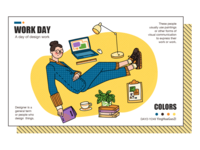 illustrator:WORK DAY Situational illustration
