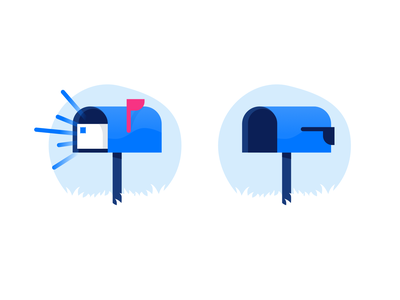 Inbox empty incoming mailbox mail inbox ui illustration design