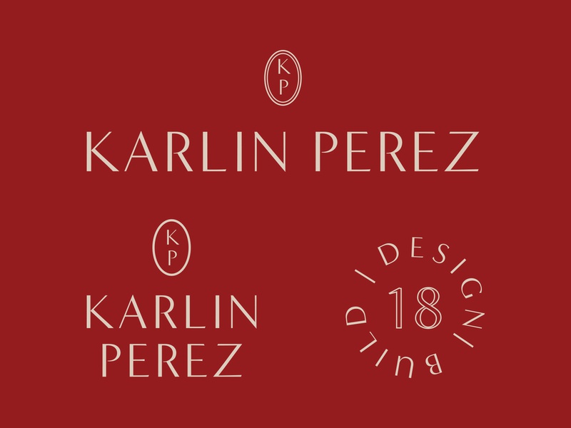 Karlin Perez Logo and Mark typography personal branding personal mark logo branding