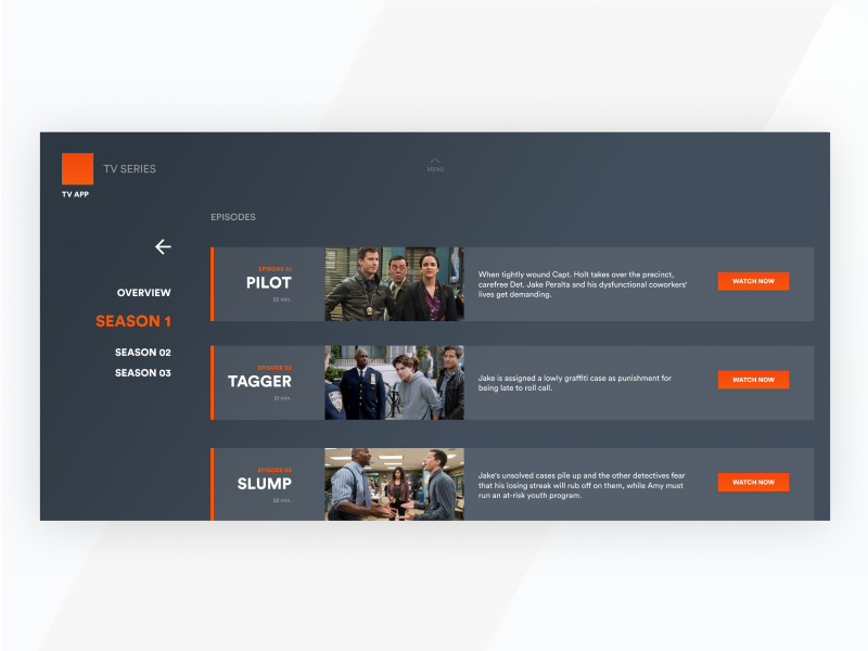 TV app - episodes by Angela Zafirovska on Dribbble