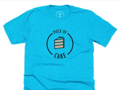 Piece of Cake cake illustrator t-shirt