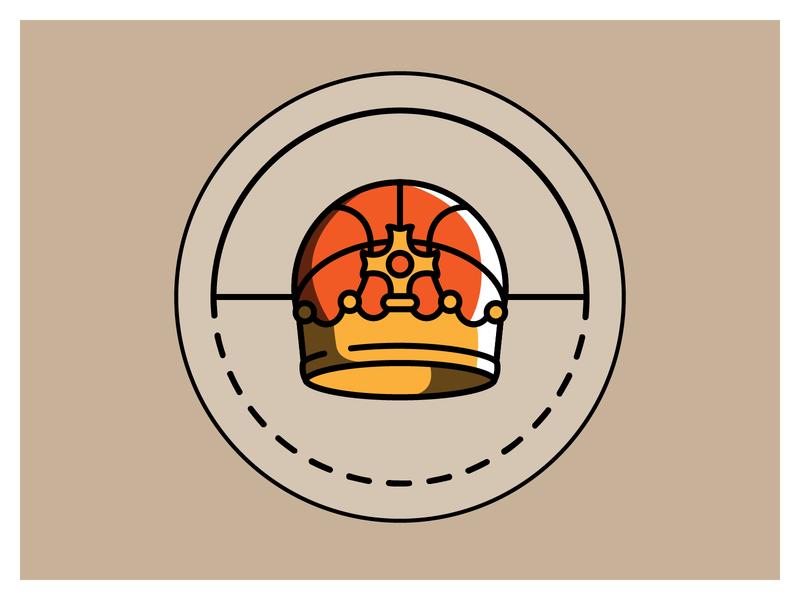 Youth Basketball League - Unused Logo design branding vector logo rejected crown basketball illustrator illustration