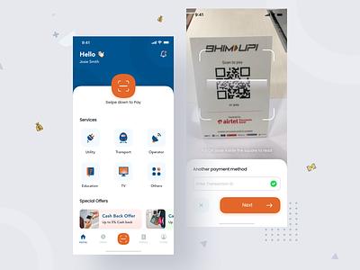 Shap Payment App illustration app concept payment app card design banking minimal typography branding dribbble interface ios app ux design ui
