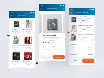 Shopping App- Item & Cart Screen shopping cart delivery app item card cart typography icon dribbble interface app ios clean ux design ui