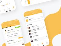YellowCap's new iOS Job & chat screen