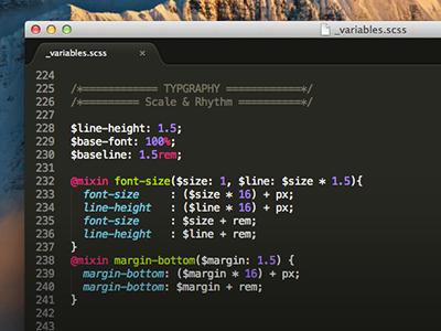 Typography @mixins typography sass web design fluid vertical rhythm