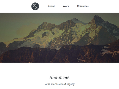 About page web design responsive css design portfolio personal hero landscape typography navigation html5