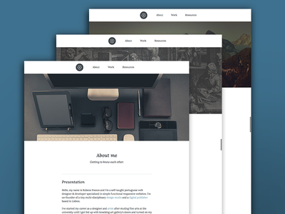 Portfolio website portfolio web design responsive personal designer