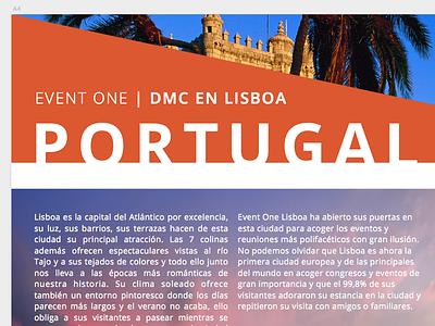 Brochure graphic design typography events travel