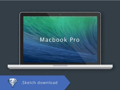 Macbook Pro .Sketch Freebie macbook pro vectorial freebie mockup sketch flat