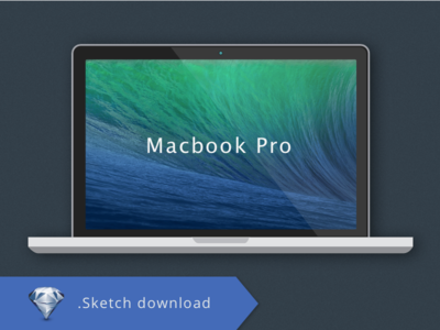 Macbook Pro .Sketch Freebie