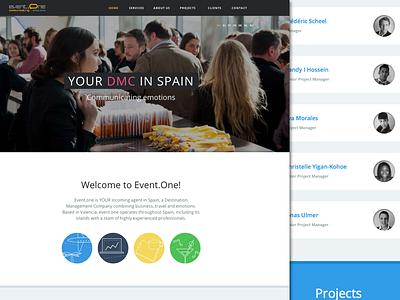 Event.One website web design responsive corporative view