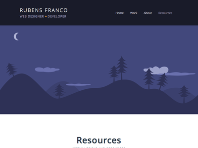 portfolio banner redesign portfolio web design responsive personal designer