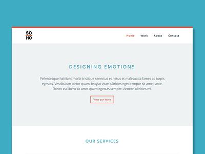 Soho Shot studio design web design responsive mockup
