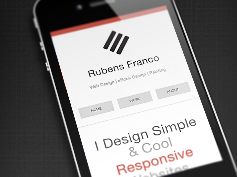 Mobile version personal website responsive web design mobile-first html5 css3