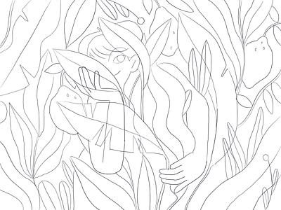 Foliage 🌿 nature girl product flat design character illustration