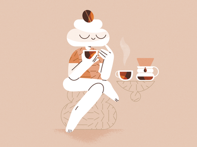 Caffetarium branding ux product flat design character illustration