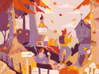 It's SPOOK season 🍂🎃 halloween nature product flat design character illustration