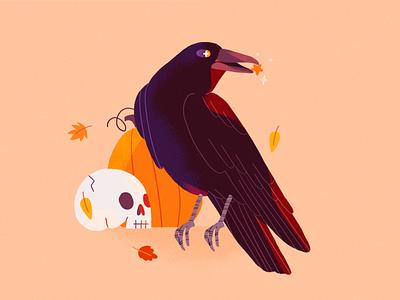 Drawtober 💀🎃 halloween nature girl product flat design character illustration