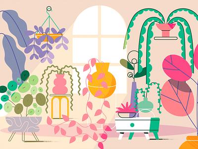 TED-Ed x Lobster Studio - Indoor Plants lobsterstudio summer team nature product flat design character illustration