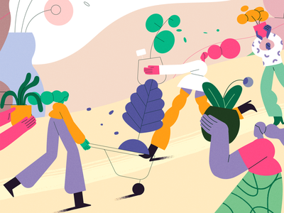 TED-Ed x Lobster Studio - Plant enthusiasts lobsterstudio team nature girl product flat design character illustration