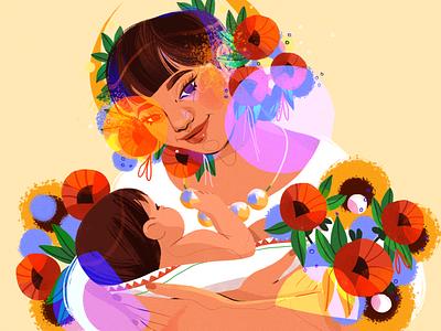 Women's Day 🌷 mother nature girl design character illustration