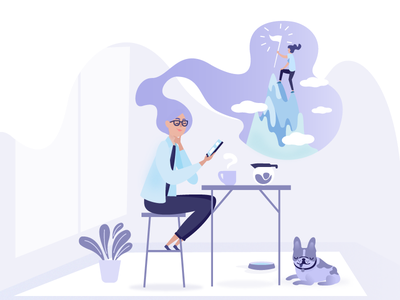 What you'll get with Evree purple flag mountain goals evree frenchie home flat summer character illustration