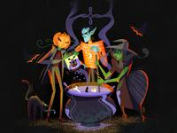 Halloween team work