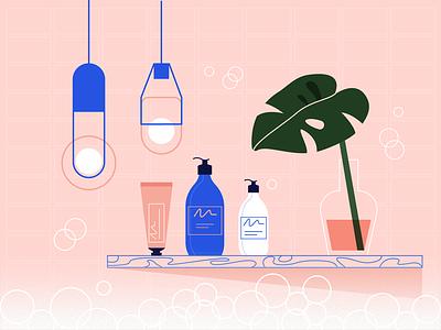Relax 🛁 bubbles plants interior cosmetics relax chill bath