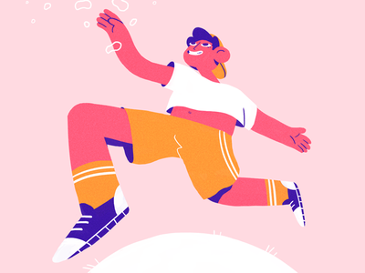 Aim High ⭐️ dream sport running sun summer team design illustration studioart fourplus