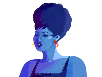 Aretha album soul music aretha design character illustration