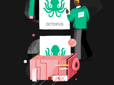 Accessible to everyone logo texture flat character illustration ui integration tool product avocode octopus windows