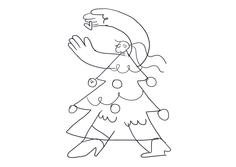 Christmas dress sketch