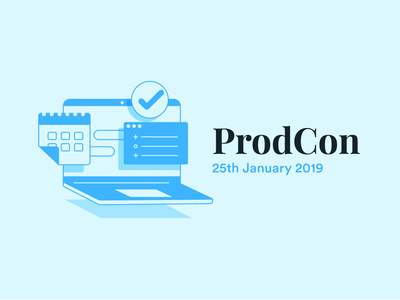 ProdCon 2019 conference saving time management productivity product flat design character illustration