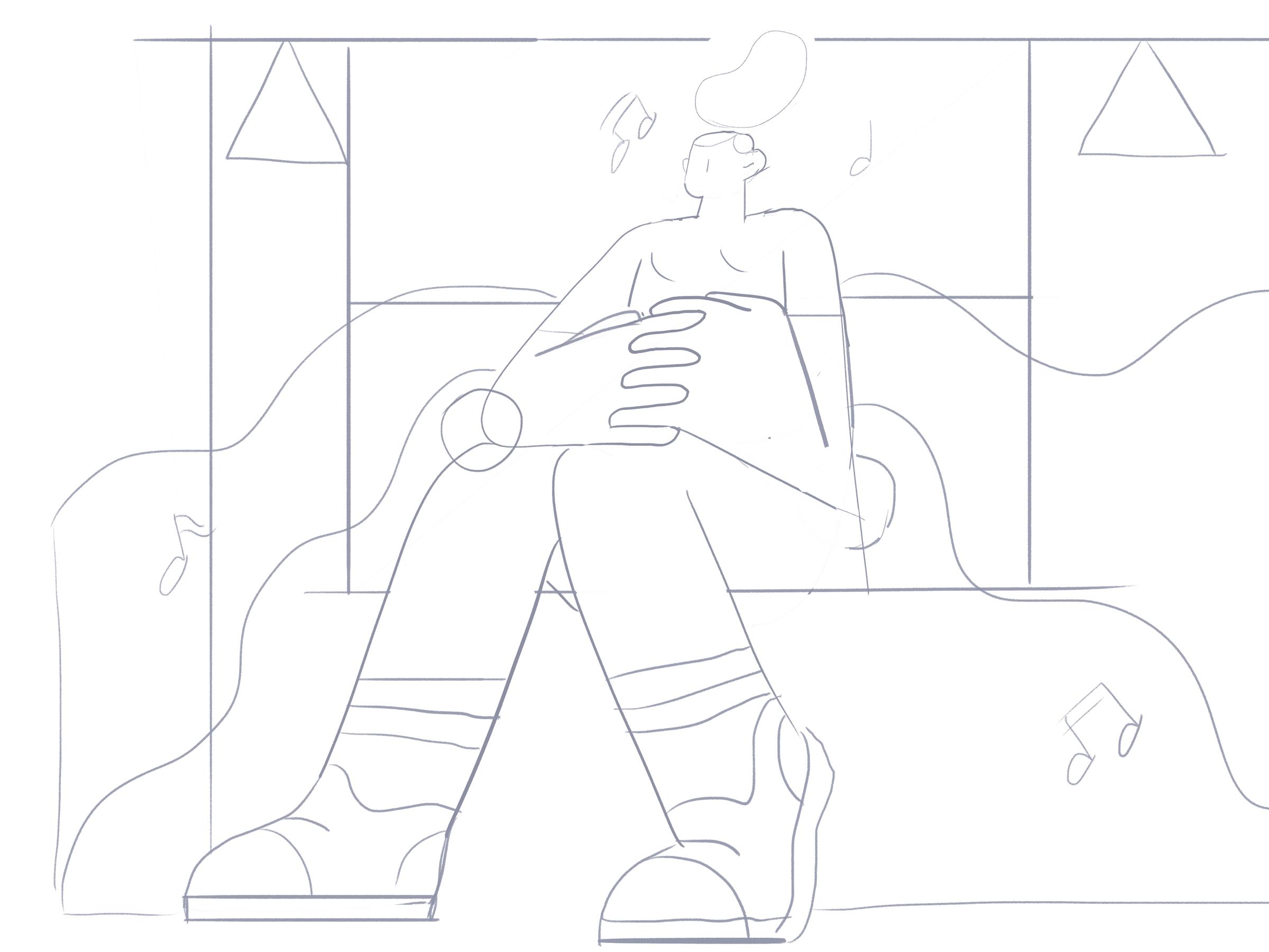Train ride sketch