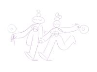 Cosmic love sketch