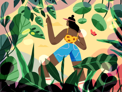 Get lost 🌱 exploring nature flat product illustration product illustration