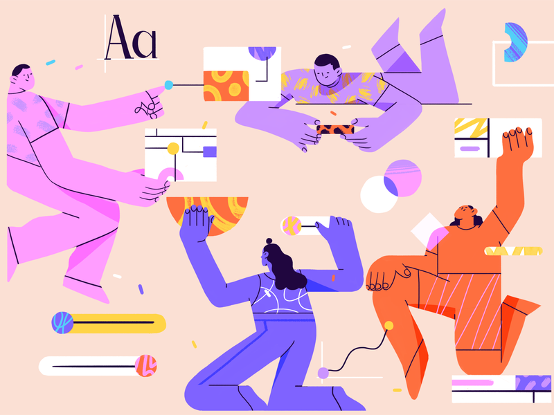Getting Started with Design Systems website system designs vector ui team flat product design character illustration