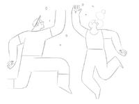 High five success sketch
