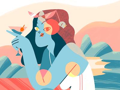 Vacay 🌞 procreate geometric beach summer design flat illustration