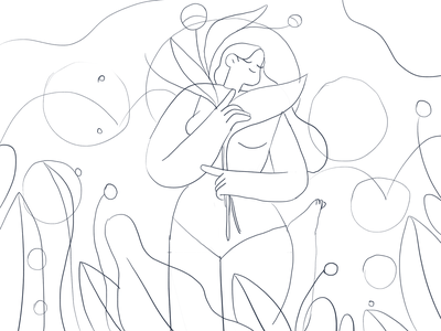 A mezzogiorno 🌻 summer nature girl product flat design character illustration