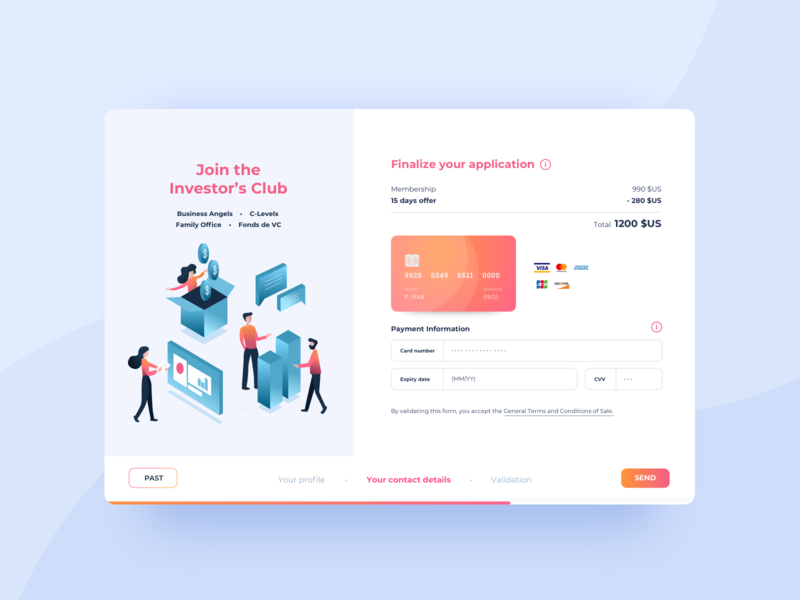 Application Form - Payment payment form form field gradient payment illustration interface sketch ux ui design ui website card form application webdesign